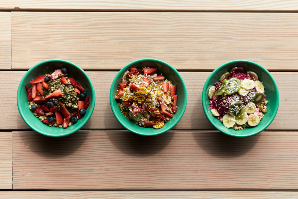Compilation Image of Top Vegan Acai Bowls on a Table