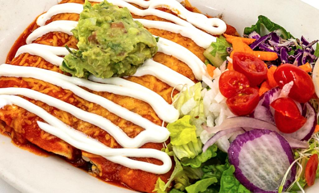 Vegan Mexican food from Natural Cafe in Santa Barbara.