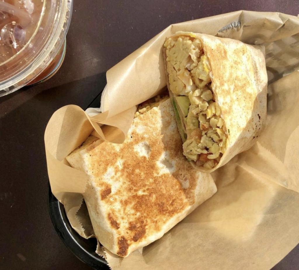 Vegan Munchies Breakfast Burrito from Dogtown Coffee