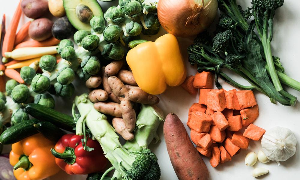 Vegetables in a Vegan Grocery List (Diet) Photo